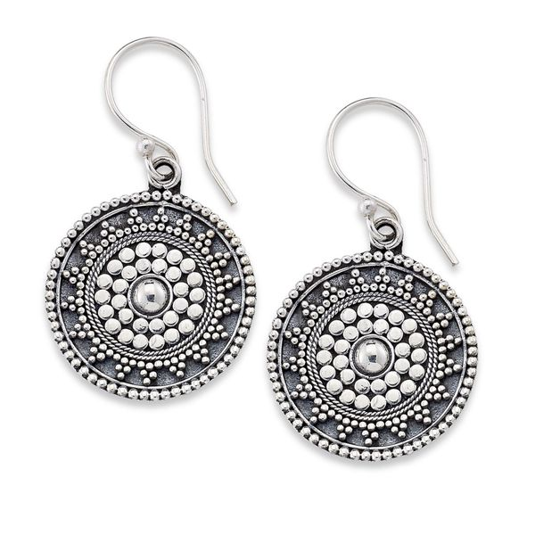 Samuel B. Sterling Silver Drop Earrings with Filigree Design Mitchell's Jewelry Norman, OK