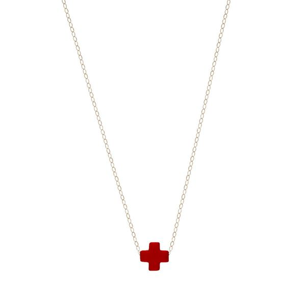 Signature Cross Necklace in Red Mitchell's Jewelry Norman, OK