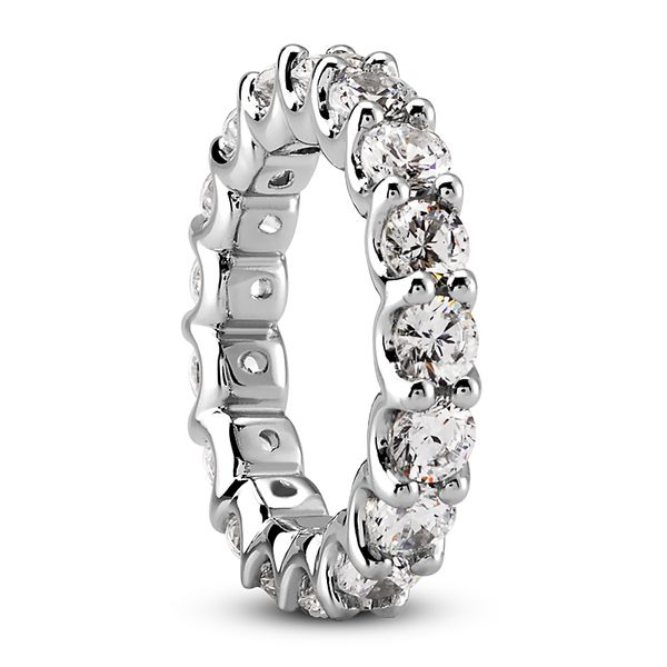 .05 Diamond Eternity Band Image 3 Mollys Jewelers Brooklyn, NY