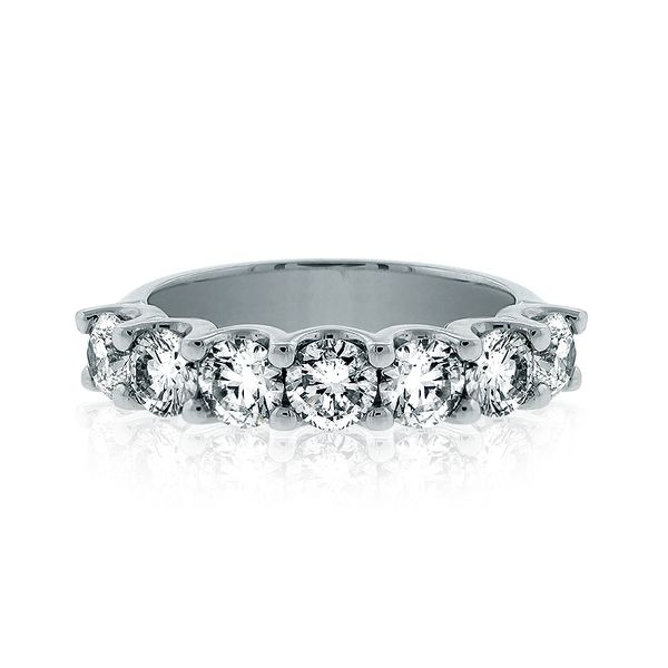 Diamond Wedding Band With 7  Of .35Ct Round Diamonds Mollys Jewelers Brooklyn, NY
