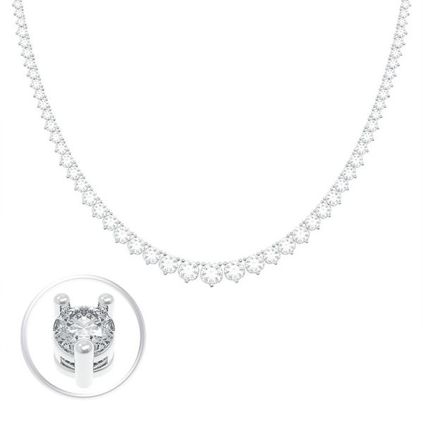 5.57 Carat Diamond Tennis Necklace Mollys Jewelers Brooklyn, NY