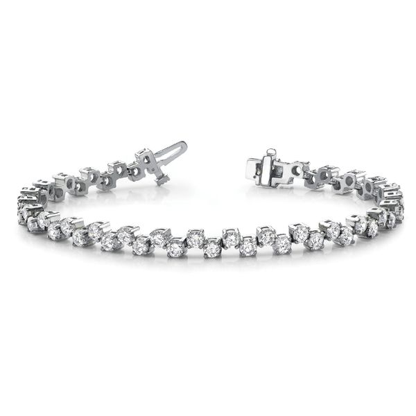 2.50 Carat Scattered Tennis Bracelet Mollys Jewelers Brooklyn, NY