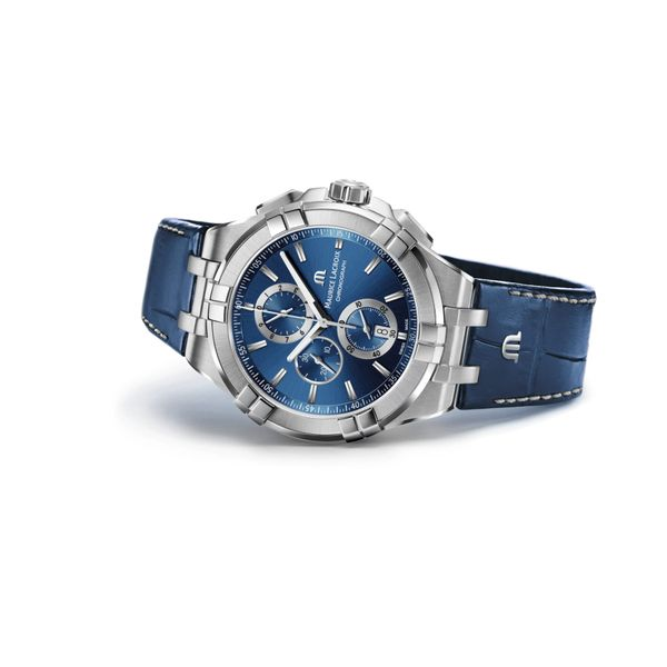 Maurice Lacroix Watch AIKON Chronograph 44mm AI1018-SS001-430-1 Image 2 Molly's Jewelers Brooklyn, NY
