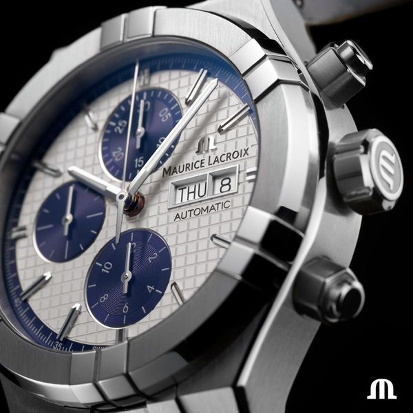 Maurice Lacroix Watch AIKON Automatic Chronograph 44mm AI6038-SS001-131-1 Image 4 Mollys Jewelers Brooklyn, NY