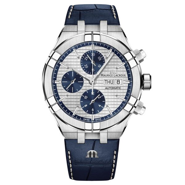 Maurice Lacroix Watch AIKON Automatic Chronograph 44mm AI6038-SS001-131-1 Mollys Jewelers Brooklyn, NY