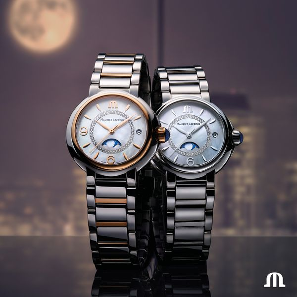 Maurice Lacroix Watch FIABA Moonphase 32mm FA1084-SS002-170-1 Image 2 Mollys Jewelers Brooklyn, NY