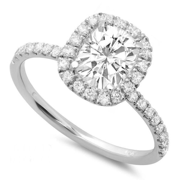 14 Karat Halo Engagement Ring Moore Jewelers Laredo, TX