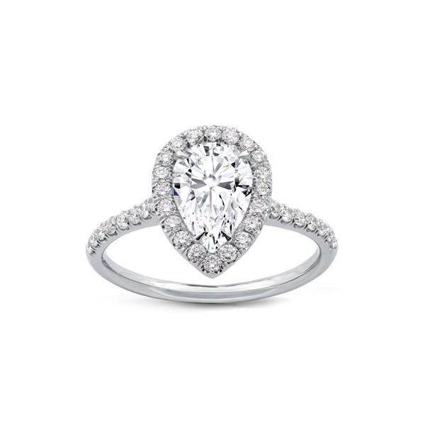14K Pear Halo Engagement Ring Moore Jewelers Laredo, TX