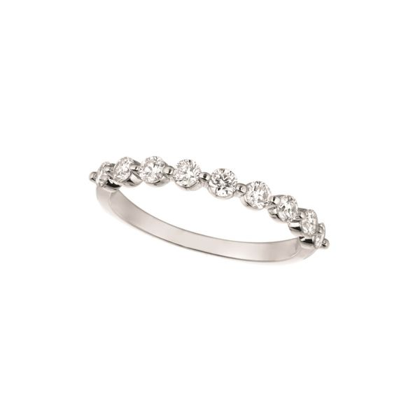 14K White Gold Half Anniversary Wedding Diamond Band Moore Jewelers Laredo, TX