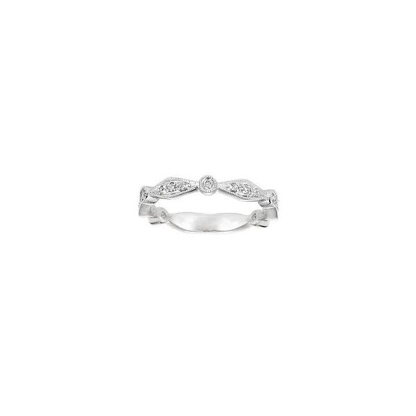 14K White Gold Anniversary Diamond Wedding Band Moore Jewelers Laredo, TX