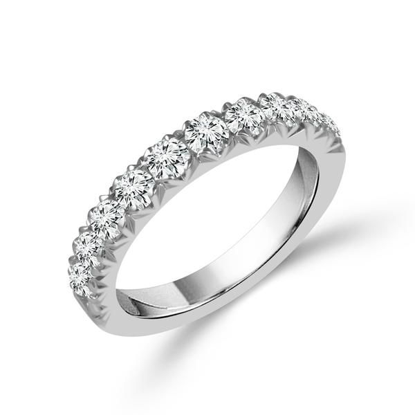 14K White Gold Half Anniversary Diamond Wedding Band Moore Jewelers Laredo, TX