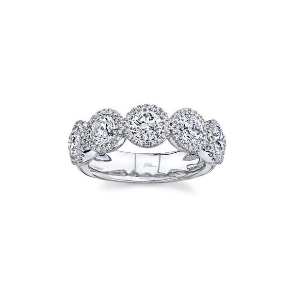14K White 5 Stone Diamond Fashion Ring Image 2 Moore Jewelers Laredo, TX