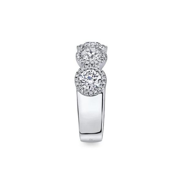 14K White 5 Stone Diamond Fashion Ring Image 3 Moore Jewelers Laredo, TX