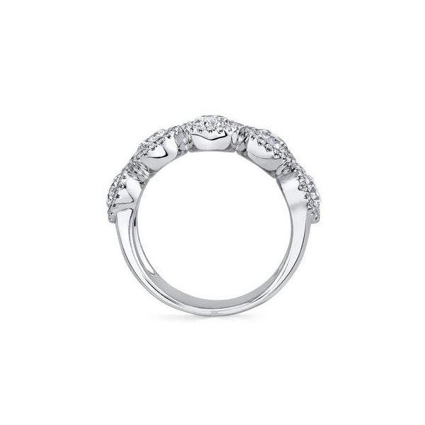 14K White 5 Stone Diamond Fashion Ring Image 4 Moore Jewelers Laredo, TX