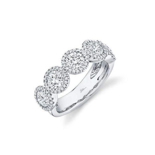 14K White 5 Stone Diamond Fashion Ring Moore Jewelers Laredo, TX