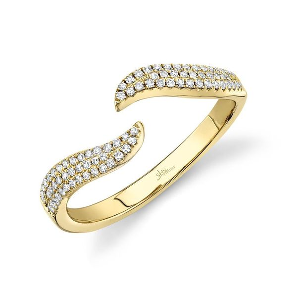Lady's Yellow 14 Karat Contemporary Fashion Ring With Round Diamonds Moore Jewelers Laredo, TX