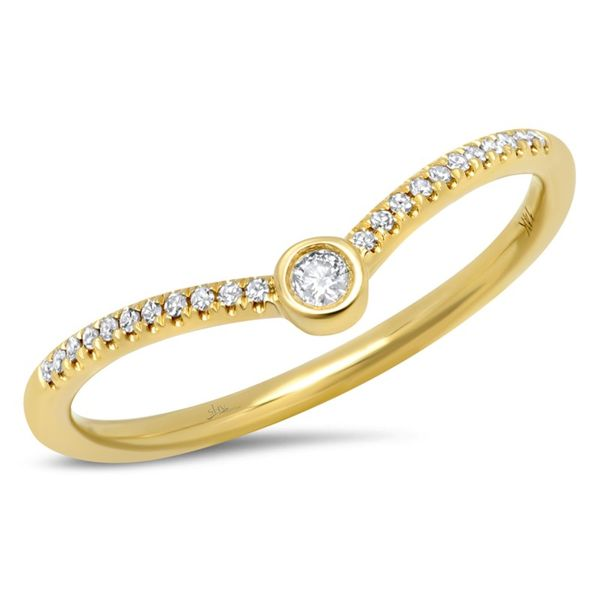 14K Yellow Gold Stackable Fashion Ring With 0.09Tw Round Diamonds Moore Jewelers Laredo, TX