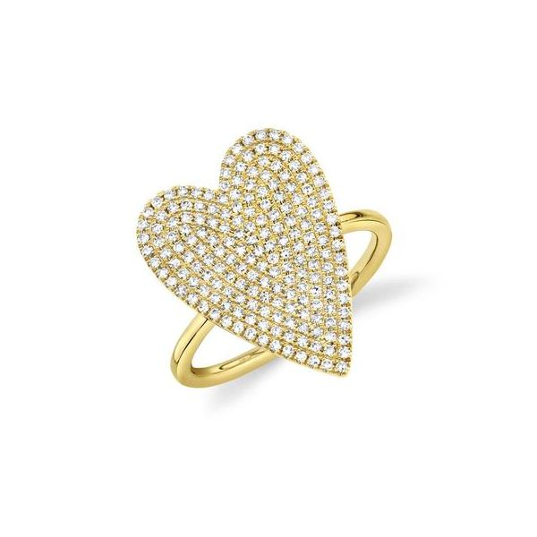 Lady's Yellow 14 Karat Heart Fashion Ring Moore Jewelers Laredo, TX