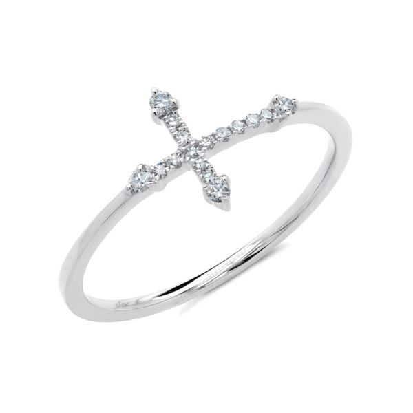 14K White Gold Cross Fashion Ring Moore Jewelers Laredo, TX