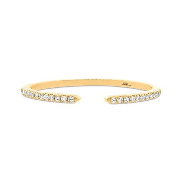 14K Yellow Gold Open Stackable Diamond Fashion Ring Image 2 Moore Jewelers Laredo, TX
