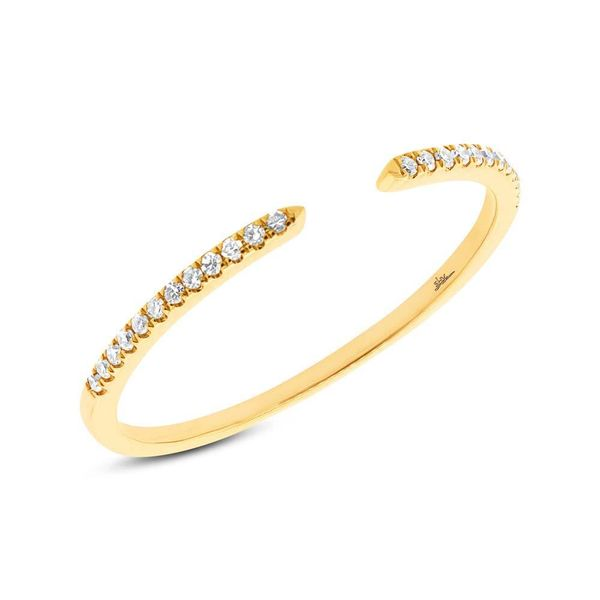 14K Yellow Gold Open Stackable Diamond Fashion Ring Moore Jewelers Laredo, TX