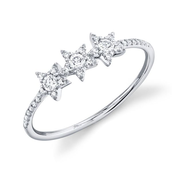 14K White Gold Star Stackable Fashion Ring Moore Jewelers Laredo, TX