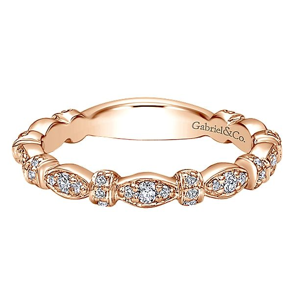 14K Rosé  Stackable Diamond Fashion Ring Moore Jewelers Laredo, TX