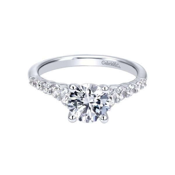 14 Karat Straight Ring With 0.50Tw Round Diamonds Moore Jewelers Laredo, TX