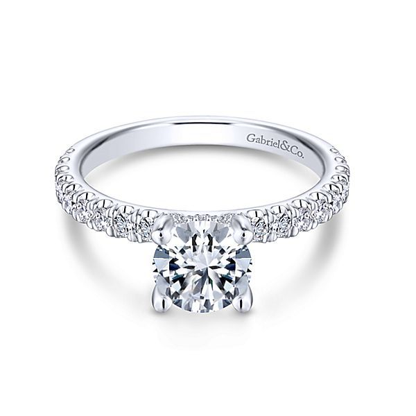 14 Karat Tiffany Semi-Mount Ring Moore Jewelers Laredo, TX