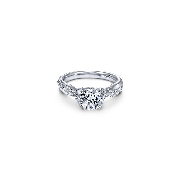 14K White Gold Diamond Semi-Mount Ring Moore Jewelers Laredo, TX