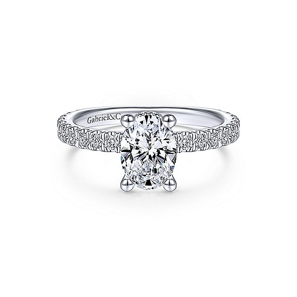 14K White Gold Hidden Halo Semi-Mount Ring Moore Jewelers Laredo, TX