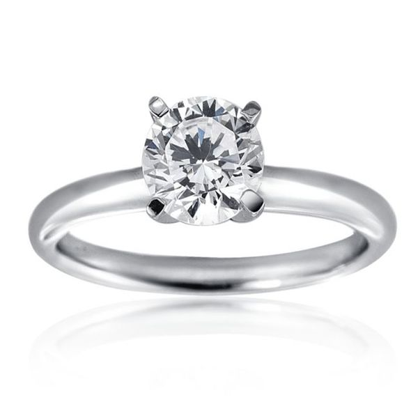 Diamond Solitaire Ring With 0.90 Carat Round Cut Moore Jewelers Laredo, TX