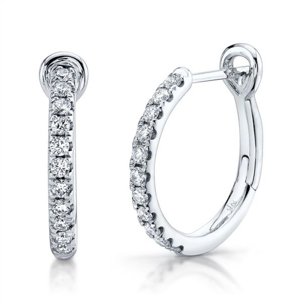 Lady's Diamond Hoop Earrings Moore Jewelers Laredo, TX
