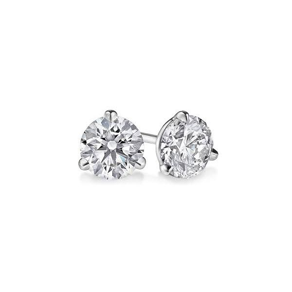 Round Diamond Stud Earrings Moore Jewelers Laredo, TX