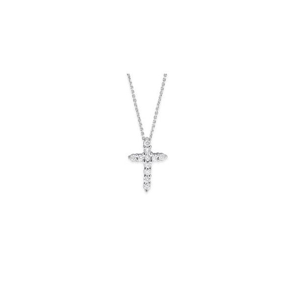 Lady's Diamond Cross Pendant With 0.25Tw Round Diamonds Moore Jewelers Laredo, TX