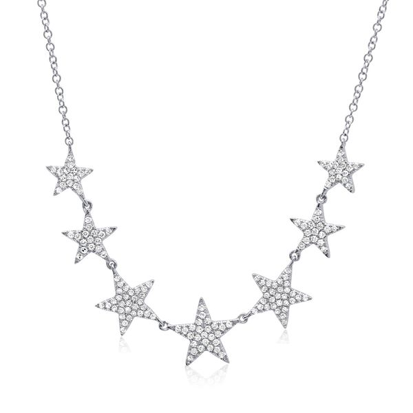 14K White Gold 7-Star Necklace Moore Jewelers Laredo, TX