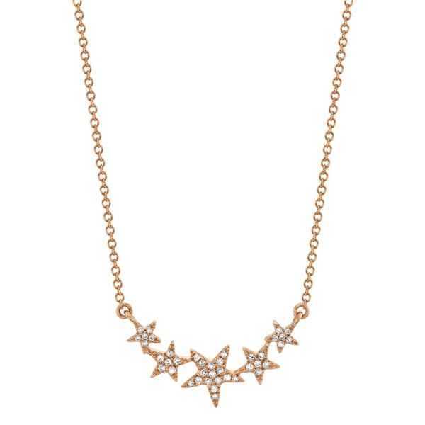 Lady's Rosé 14 Karat 5-Star Necklace Moore Jewelers Laredo, TX