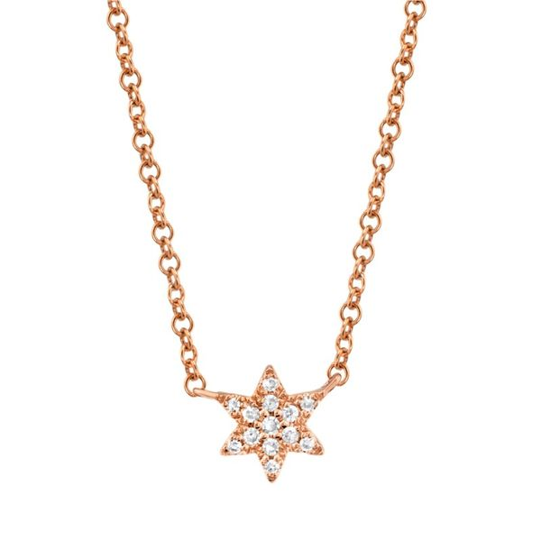 Lady's Rosé 14 Karat Star Necklace Moore Jewelers Laredo, TX