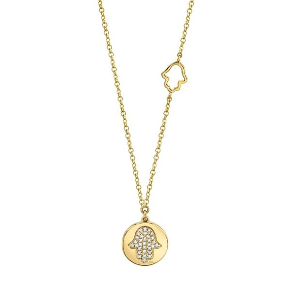 Lady's Yellow 14 Karat Hamsa Necklace Moore Jewelers Laredo, TX