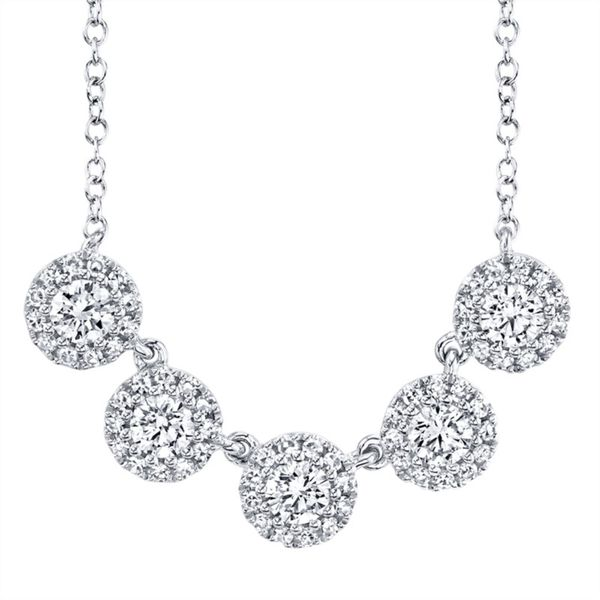 Lady's White 14 Karat 5 Stone Necklace Moore Jewelers Laredo, TX
