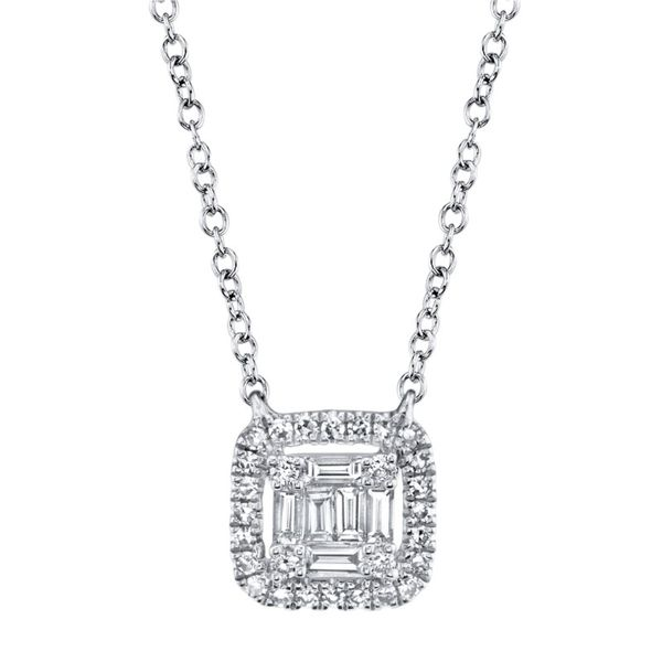 Lady's White 14 Karat Diamond Necklace Moore Jewelers Laredo, TX