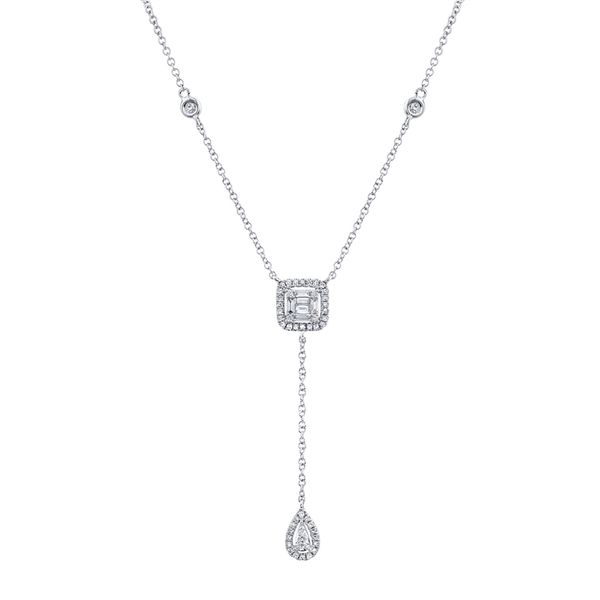 Lady's White 14 Karat Lariat Necklace Moore Jewelers Laredo, TX