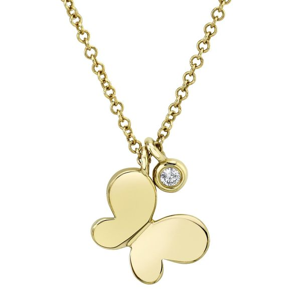 14K Yellow Gold Butterfly Necklace Moore Jewelers Laredo, TX
