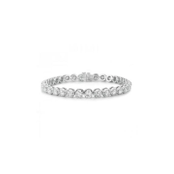 14K White Gold Graduated Tennis Bracelet Moore Jewelers Laredo, TX