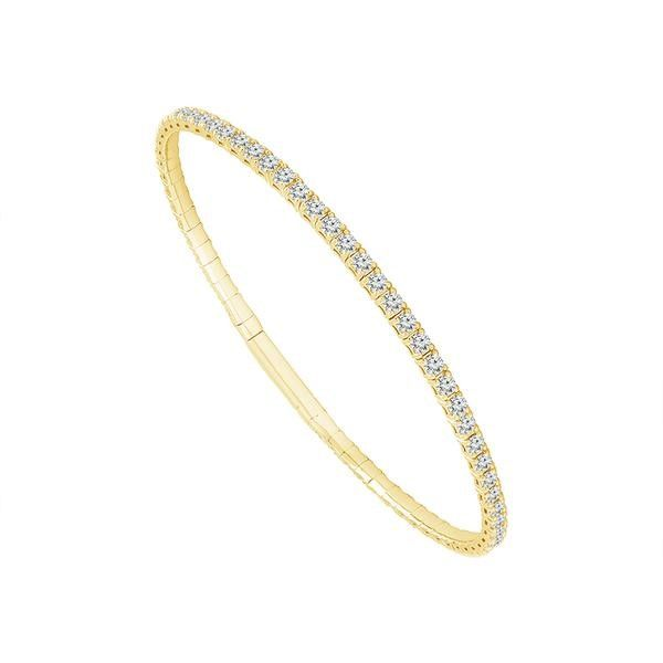 Lady's Yellow 14 Karat Bangle Bracelet Moore Jewelers Laredo, TX