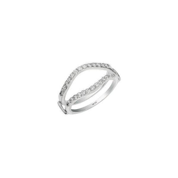 14K White Gold Curved Ring Guard Moore Jewelers Laredo, TX