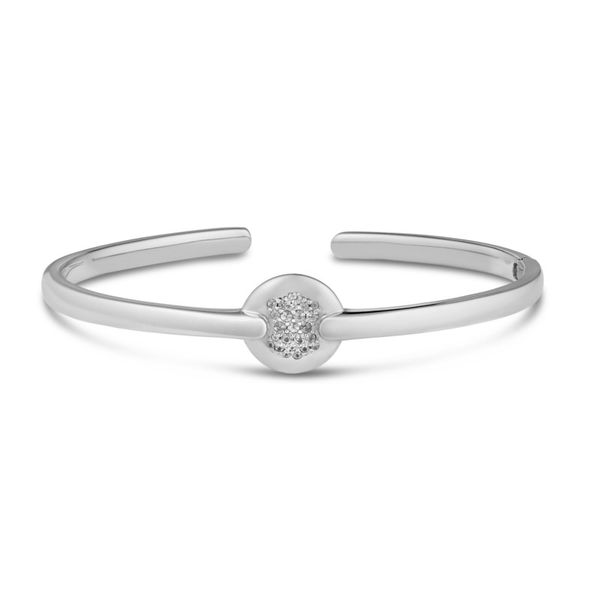 Lady's White Sterling Silver Bangle Moore Jewelers Laredo, TX