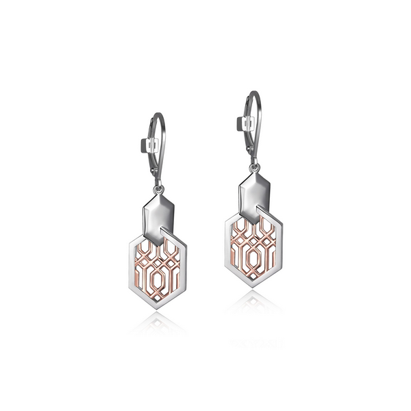 R/W Sterling Silver Dangle Earrings Moore Jewelers Laredo, TX
