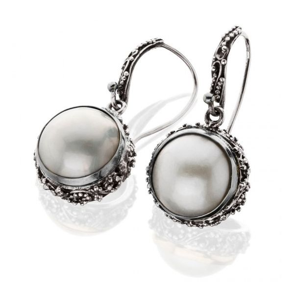 Sterling Silver  Pearl Drop Earrings Moore Jewelers Laredo, TX