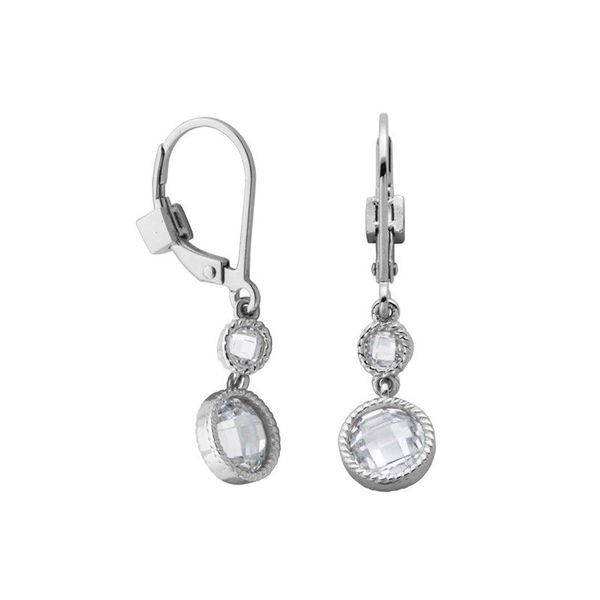 Lady's Sterling Silver Dangle Earrings Moore Jewelers Laredo, TX